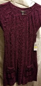 Purple sweater dress sz.m
